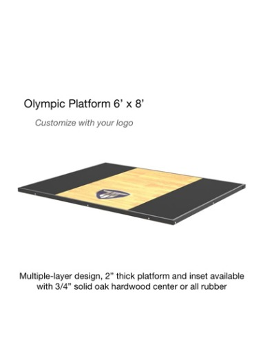 olympic platform (oak wood center)